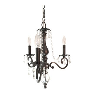 3 Arm Chandelier with Crystal Details