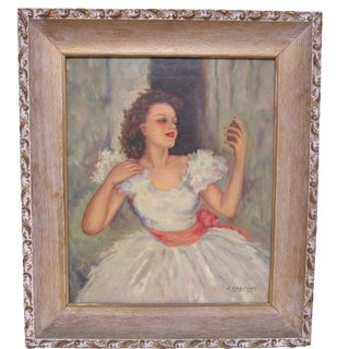 Vintage First Selfie - Portrait of Woman in Party Dress
