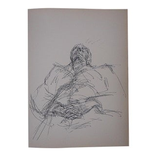 1964 Vintage Giacometti Lithograph for Derriere Le Miroir