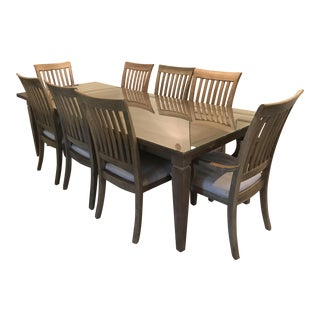 Dining Room Table With Chairs - Set of 9