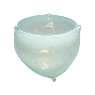 Karl Hensel Vintage Aqua Art Glass Bowl