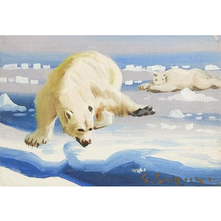 Polar Bear Oil Painting