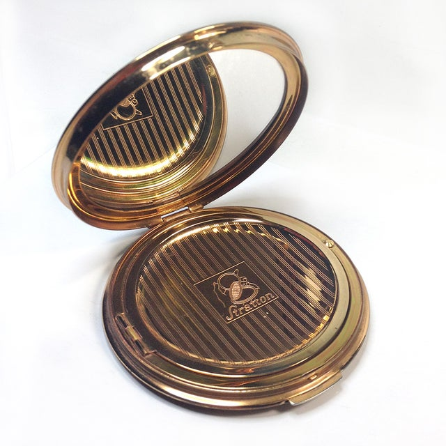 Stratton Embroidered Gold Tone Compact - Image 3 of 5