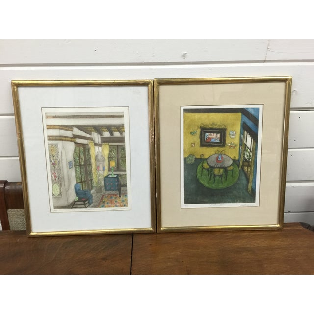 Romero Signed Interior Lithographs - A Pair - Image 2 of 9