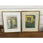 Image of Romero Signed Interior Lithographs - A Pair