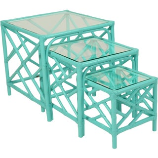 Chinese Chippendale Nesting Tables - Set of 3