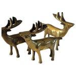 Image of Brass Deer Statues - Set of 3