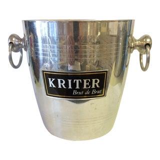 Vintage French Kriter Brut De Brut Champagne Bucket