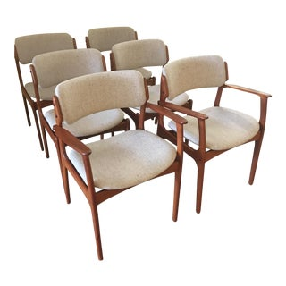 Erik Buck Teak Dining Chairs - Set of 6
