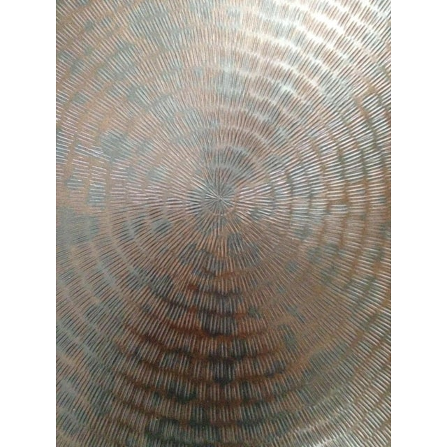 Modern Crate & Barrel Copper & Metal Coffee Table - Image 10 of 10