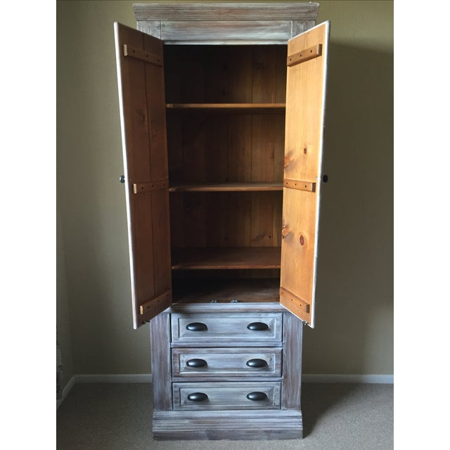 Solid Whitewash Armoire - Image 3 of 11