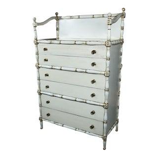 Maison Jansen Faux Bamboo & Gilt Decorated Dresser