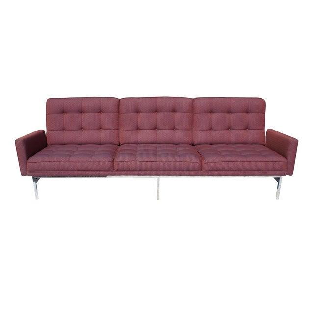 Florence Knoll Burgundy Sofa - Image 2 of 6
