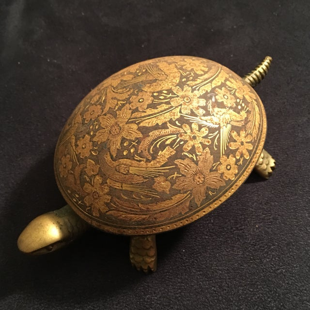 Antique Boj Eibar Bell Ring Service Turtle - Image 2 of 6