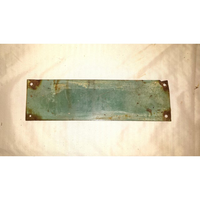 Vintage Green Porcelain High Voltage Sign - Image 3 of 6