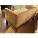 Image of Small Gold Velvet Bardot Bench