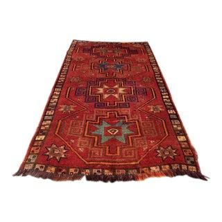 Vintage Anatolian Area Rug - 5′3″ × 10′5″