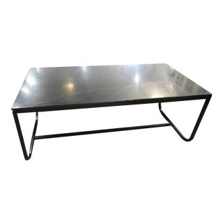 HD Buttercup Black Marble Table