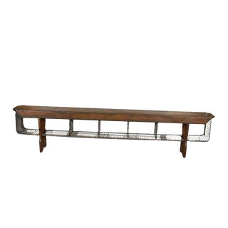 JW Custom Line Bench with Wire Baskets