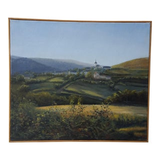 Original Oil Painting of a French Landscape by THIERS