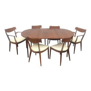 Kipp Stewart Drexel Mid-Century Modern Walnut Dining Set