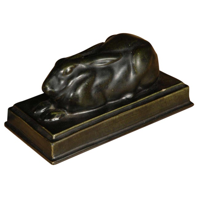 Sleeping Hare Sculpture - Image 1 of 6