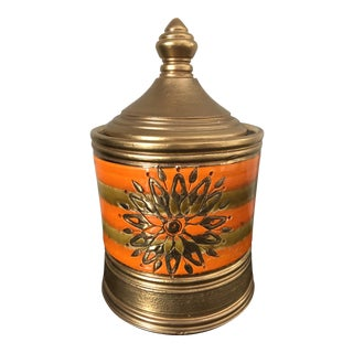 Rosenthal Netter Bitossi Orange Gold Jar