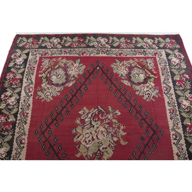 "Anatolia Turkish Kilim Large Rug - 9'6"" X 10'8"" - Image 5 of 10"