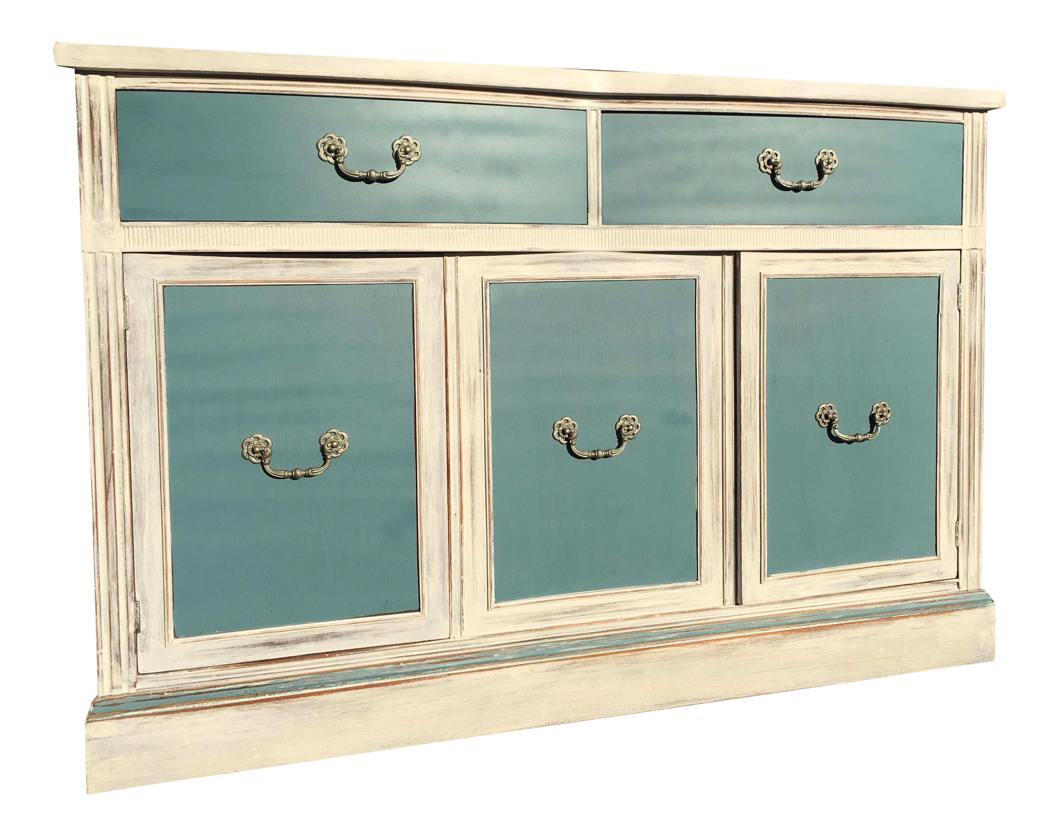 Vintage Amp Used White Credenzas And Sideboards