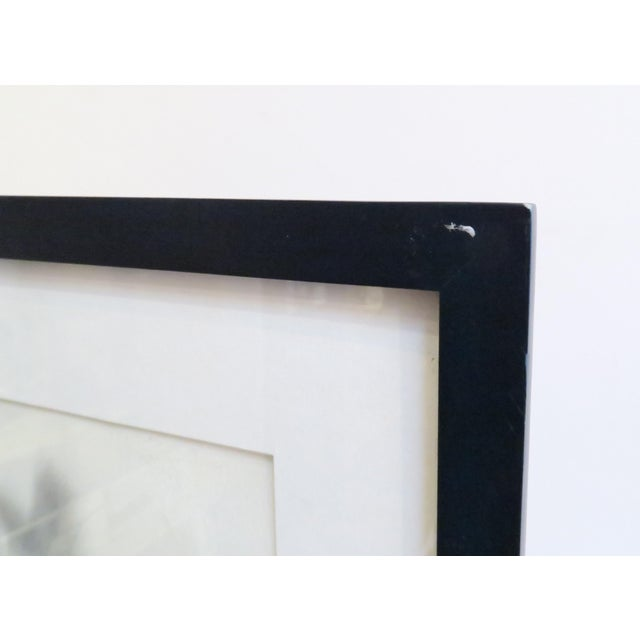 Vintage Framed Abstract Watercolor Painting - Image 5 of 5
