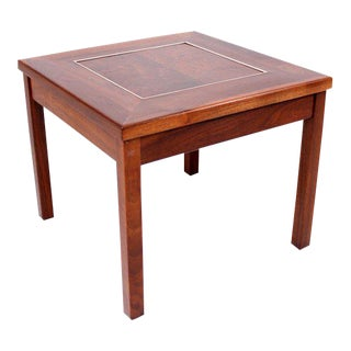 Brown Saltman Solid Walnut Side Table by John Keal