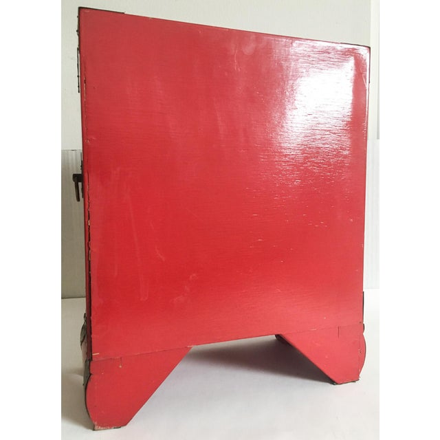 Vintage Red Lacquer Tansu Chest Jewelry Box - Image 5 of 11