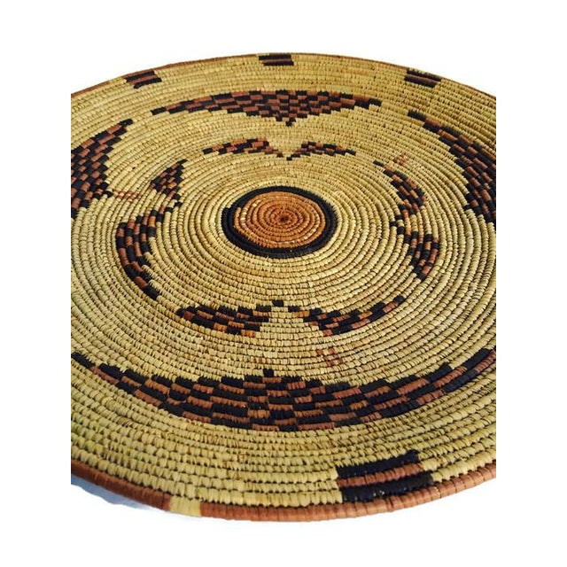 Vintage Moroccan Berber Woven Bowl Tray - Image 5 of 6