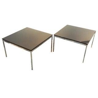 Florence Knoll Marble & Chrome Tables - a Pair