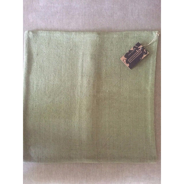 West Elm Green Tea Hand Loomed Silk Pillow Cover - Image 6 of 11