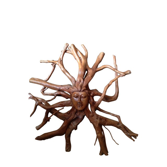 Hand-Carved Root Sculpture - Image 1 of 6