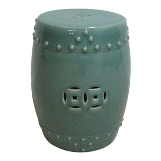 Vintage Asian Ceramic Glazed Garden Stool