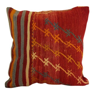 "Kilim Pillow Decorative Handmade Pillow Cover Turkish Vintage - 16"" x 16"""
