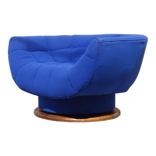 Rare Monumental Swivel Tub Chair by Adrian Pearsall
