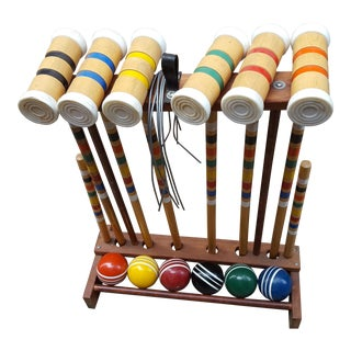 Vintage Wooden Croquet Set
