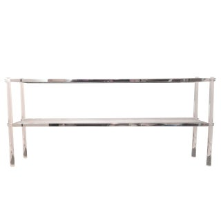 Lana Lucite & Chrome Console Table