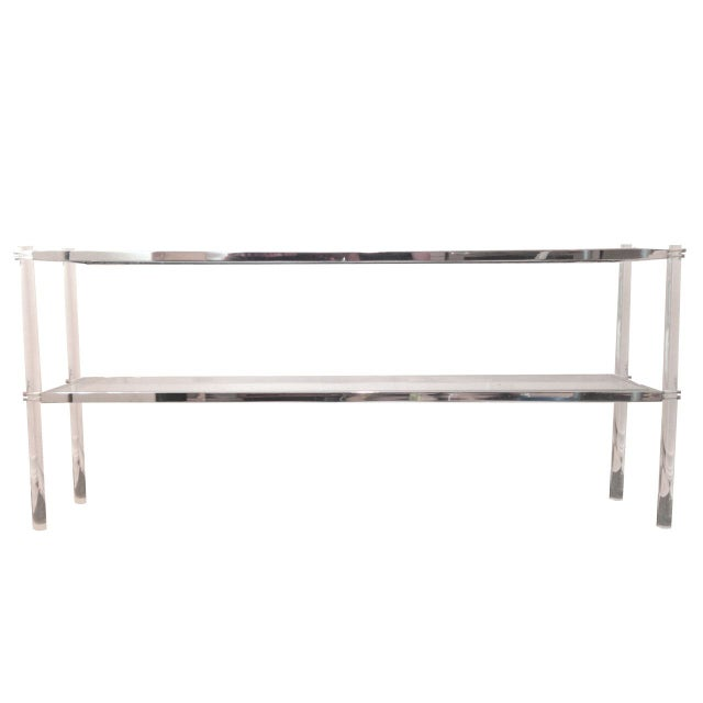 Image of Lana Lucite & Chrome Console Table
