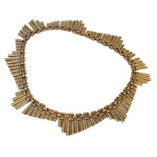 Trifari Art Deco Brass Necklace