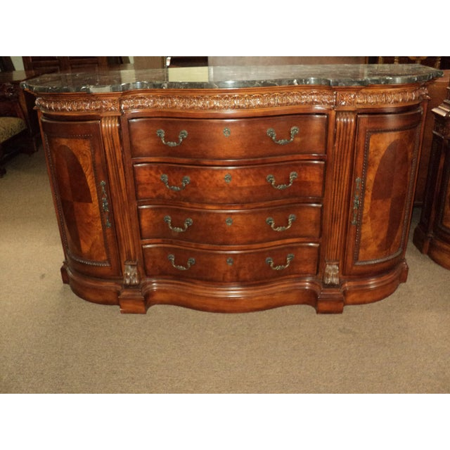 Image of Chippendale-Style Marble Top Buffet