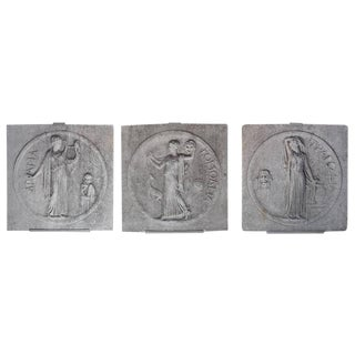 Set of Three Cast Stone Architectural Elements