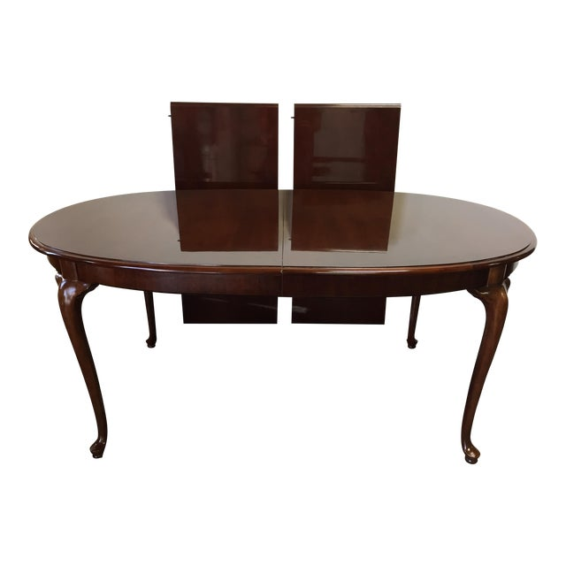Thomasville Cherry Dining Room Set: Thomasville Cherry Queen Anne Dining Table