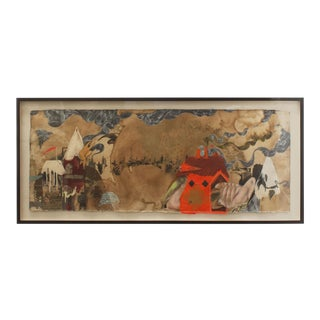 Japanese Surrealist Abstract Landscape Painting