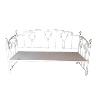 White Metal Victorian Daybed