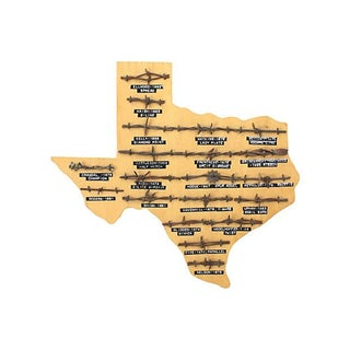 Texas Antique Barbed Wire Wall Hanging