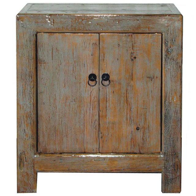 Image of Two Door Distressed Elm Cabinet